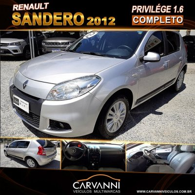 Veículo SANDERO 2012 1.6 PRIVILÉGE 16V FLEX 4P MANUAL