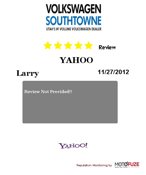 VW Southtowne received another 5 Star Review