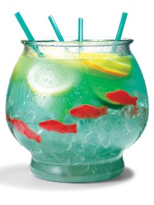 The fish bowl for Fish bowl drink recipe