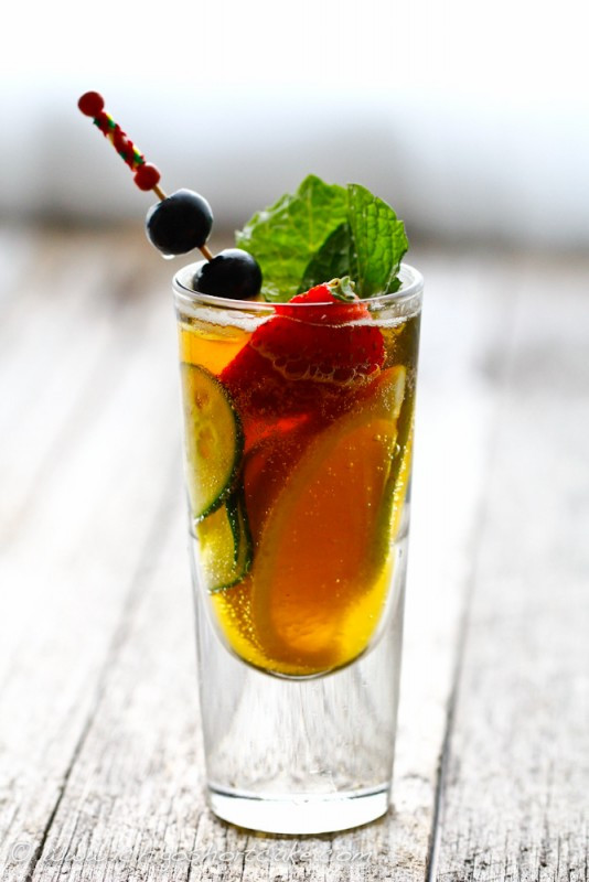 Pimm's Cup with a gingery twist