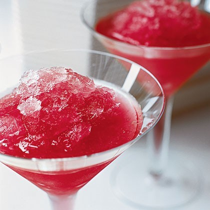 Ruby-red cocktail