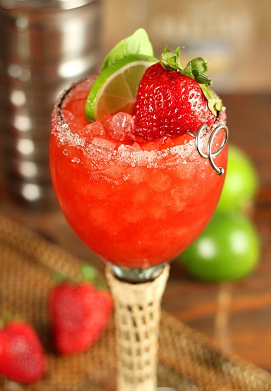 Strawberry and Basil Margarita