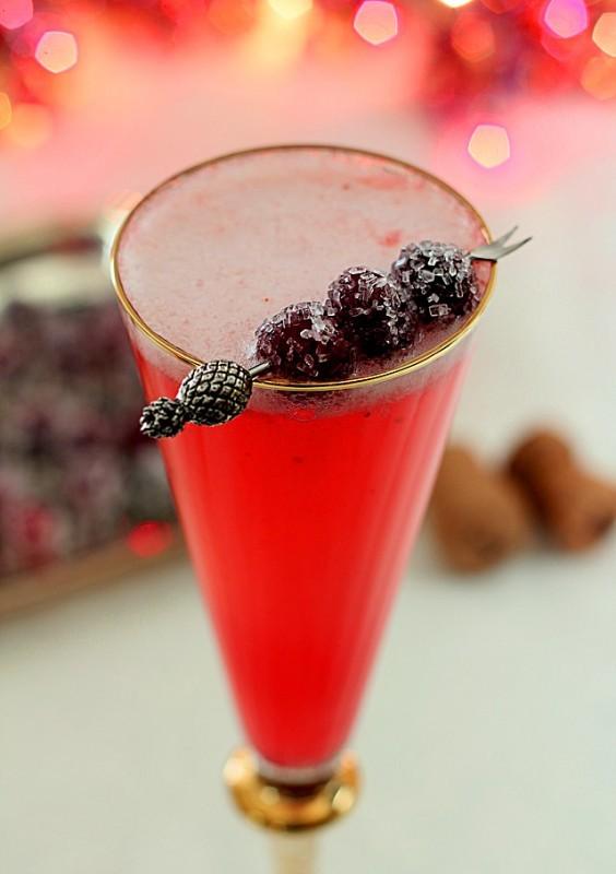 Pink Platinum Champagne Cocktail