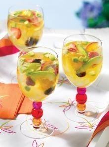 Passion Fruit Sangria with Avocado