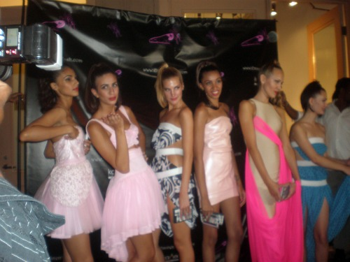 fashion models on Fashion Night Out