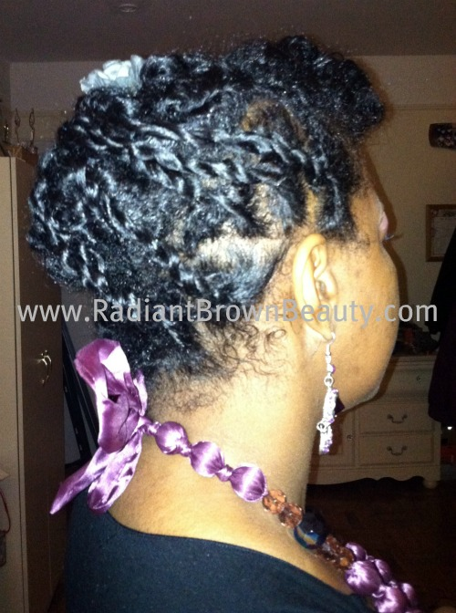 natural hairstyle with twists