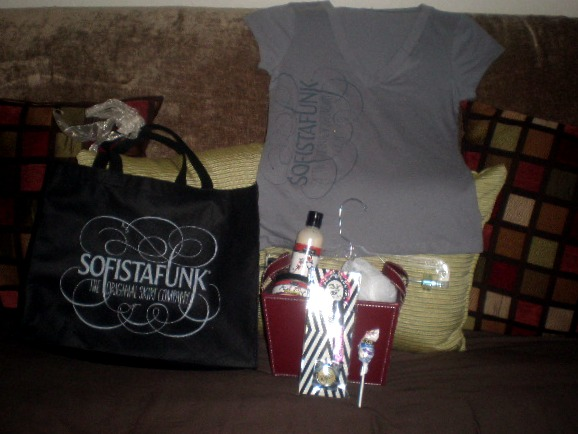 Inside Sofistafunk swag bag