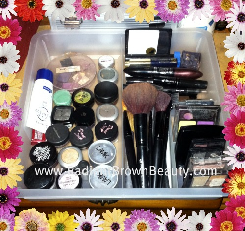 organizing beauty products and cosmetics