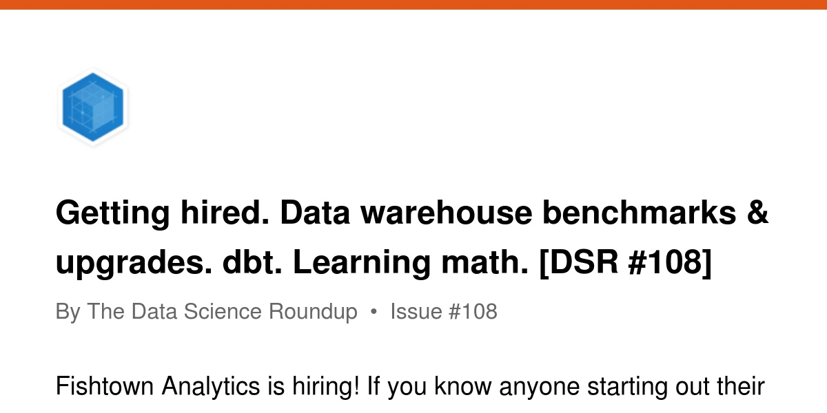Getting hired  Data warehouse benchmarks & upgrades  dbt