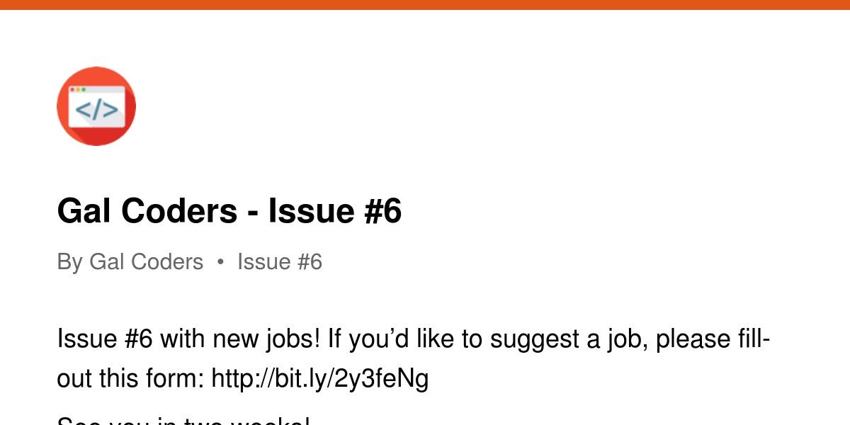Gal Coders - Issue #6 | Revue