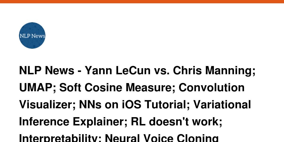 NLP News - Yann LeCun vs  Chris Manning