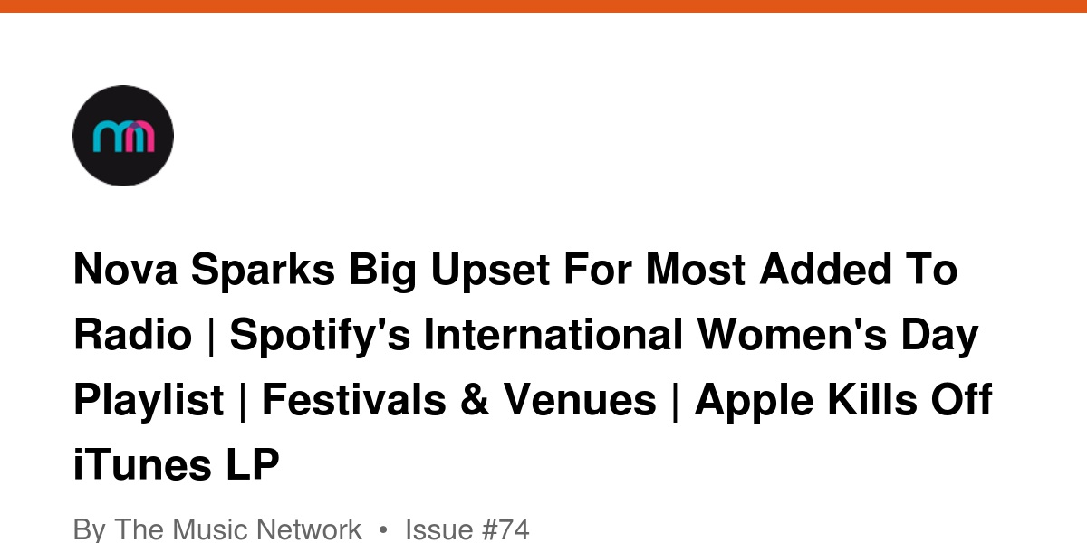 Nova Sparks Big Upset For Most Added To Radio | Spotify's