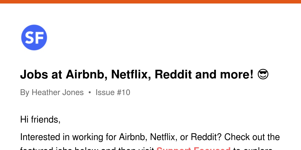 Jobs at Airbnb, Netflix, Reddit and more! 😎 | Revue