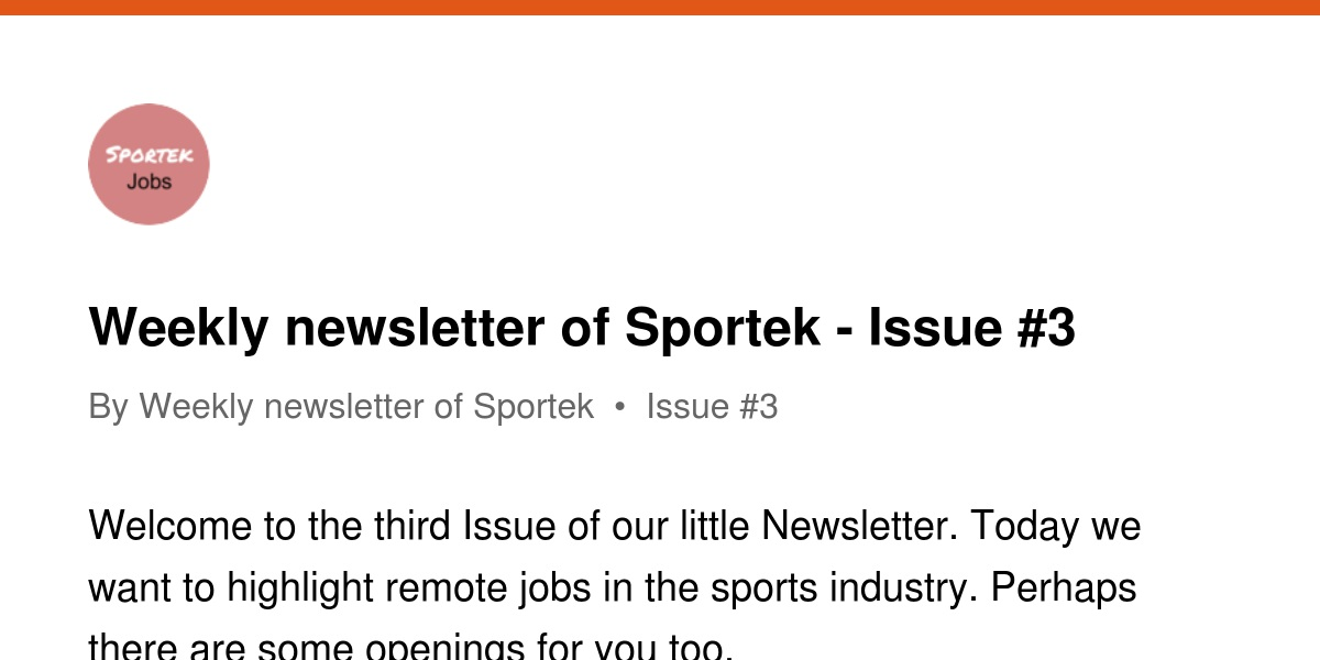 Weekly Newsletter Of Sportek Issue 3 Revue Is established in 2002 in taichung, taiwan. revue