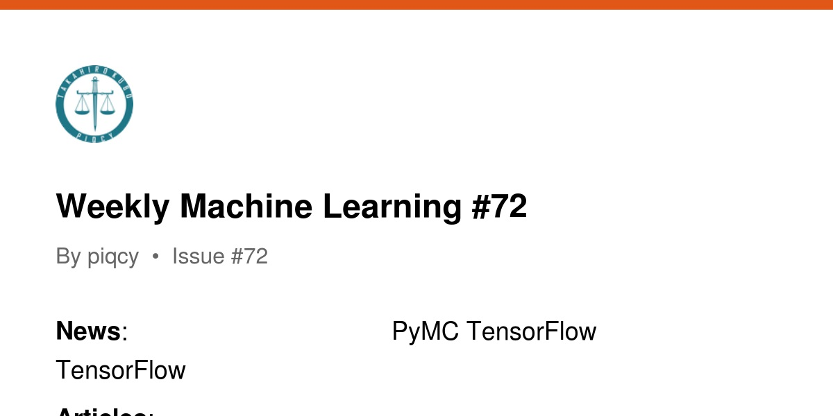 Weekly Machine Learning #72 | Revue