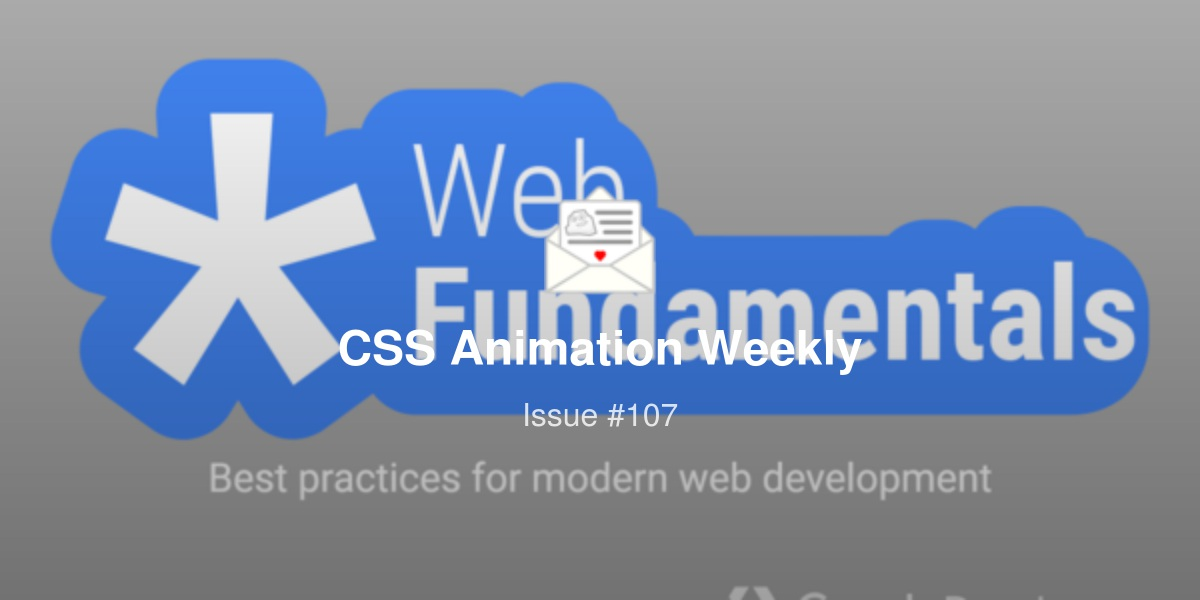CSS Animation Weekly #107 - CSS Scroll Snap, React-spring masonry