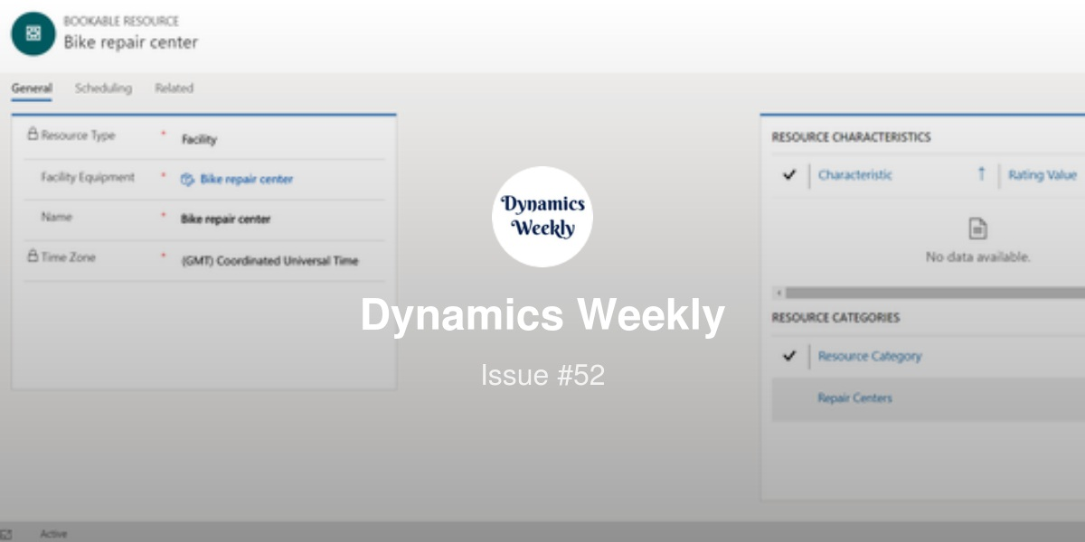 Dynamics Weekly #52 | Revue