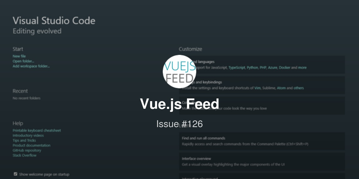Vue js Feed - Issue #126: New releases for Vuetify js