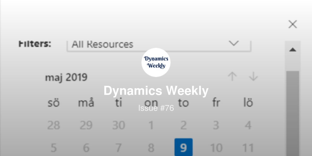 Dynamics Weekly #76 | Revue