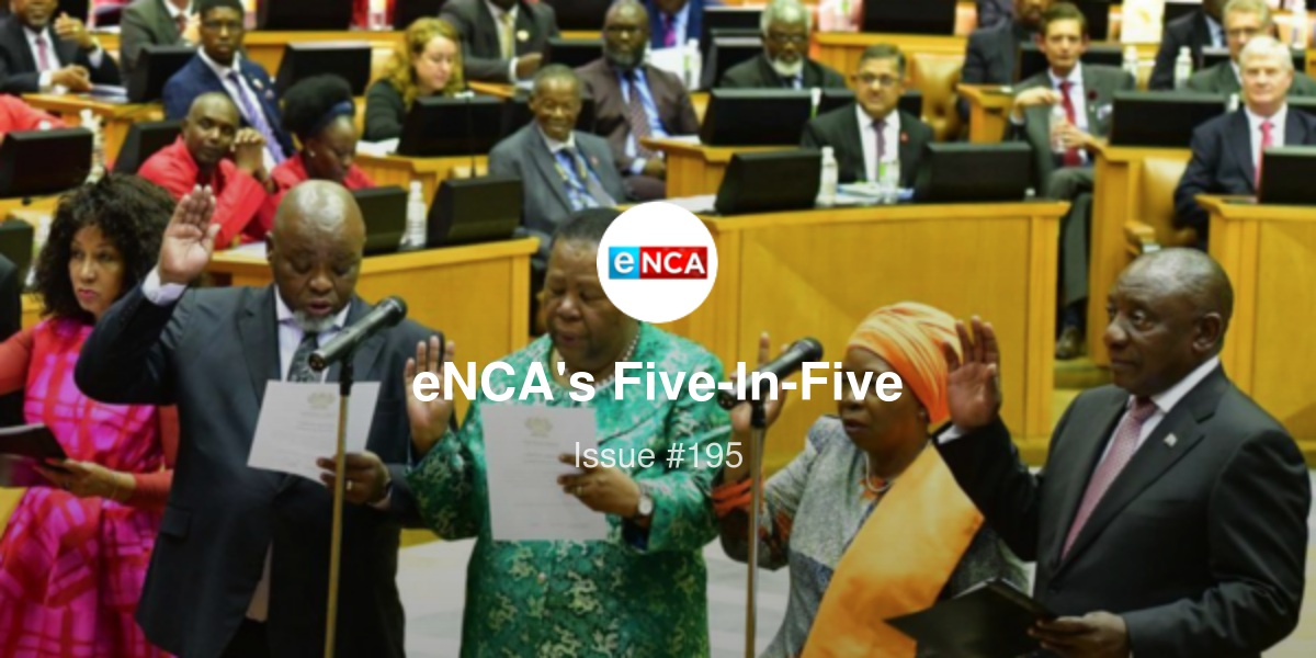 eNCA's Five-In-Five - Who will be SA's deputy president; Alleged police killers arrested and more