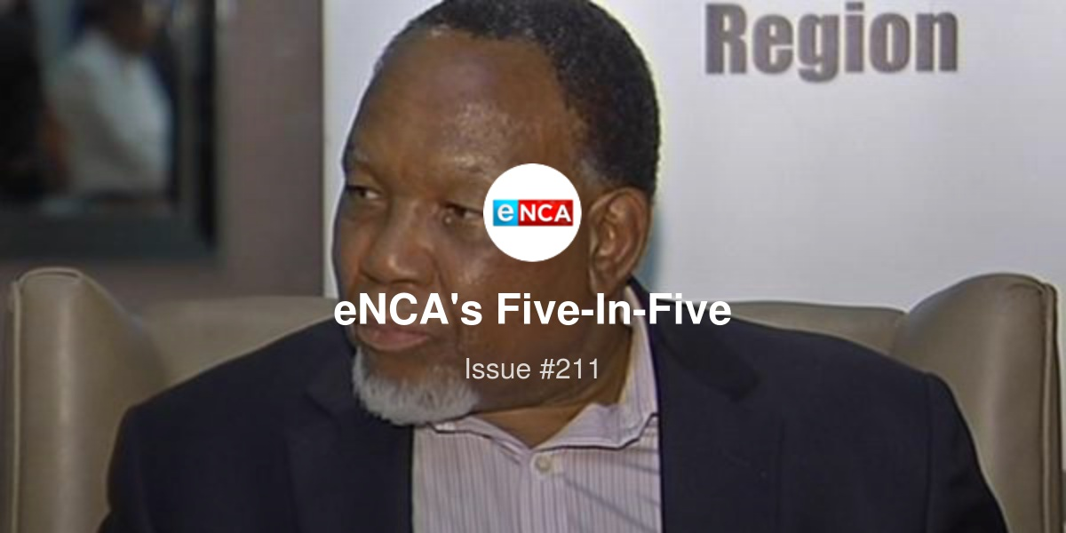eNCA's Five-In-Five - Kgalema Motlanthe to lead Ace Magashule probe, Trump-bashing gets physical at China tech show, and more...