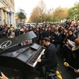 Man bikes grand piano to attacked Paris concert hall, plays Lennon's Imagine