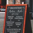 A-Frame Chalkboard Menu MockUp | GraphicBurger