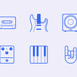 In The Studio: 24 Free Icons | GraphicBurger