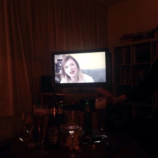 Watching Slowdive at my friend Tessel's place (Shoegaze adoration night!)