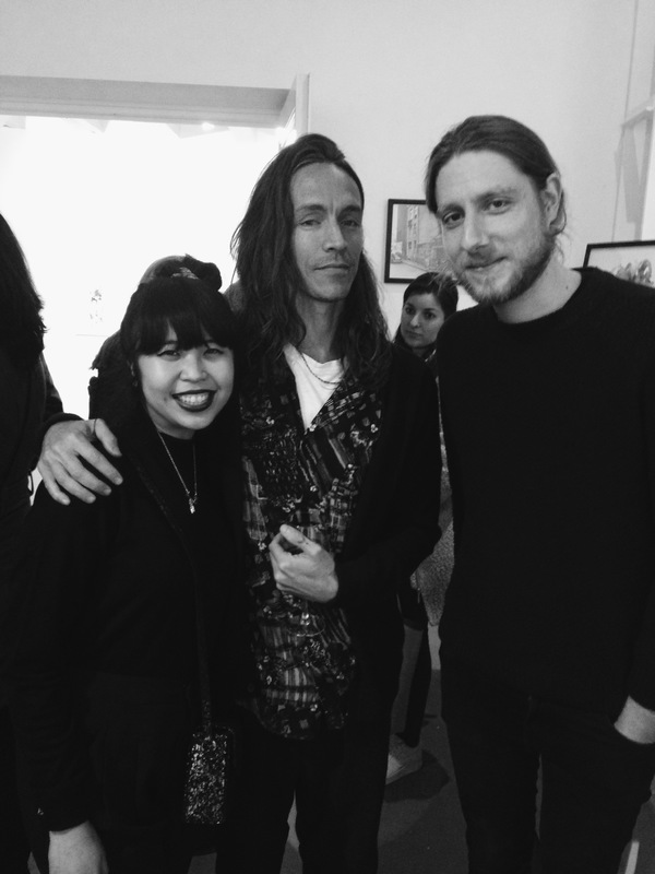"""Hanging out with Brandon Boyd last week at his """"Heart of Gold"""" exhibition"""