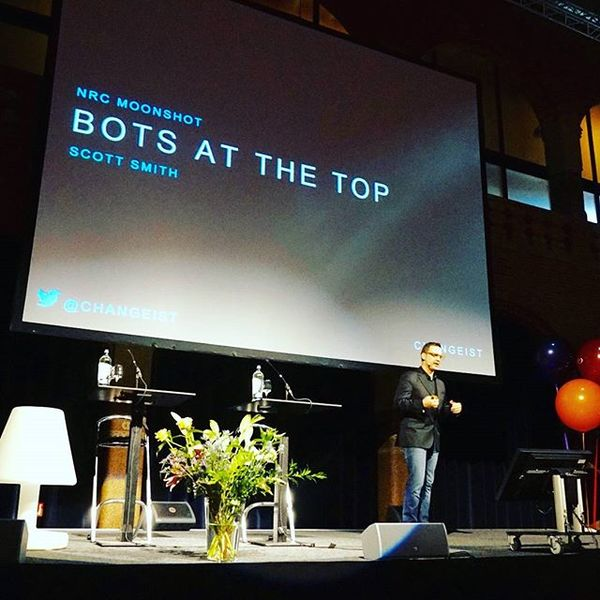 Scott's talk on bots and organizations from #NRCLive Moonshot in Amsterdam.