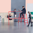Alternative office furniture by Rolf Hay and Lund University students