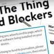 Sites die adblockers blokkeren zien bezoek teruglopen