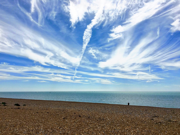 Big skies on Shoreham Beach
