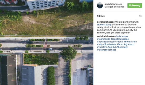 Drip. (+1 for Leon County recognizing the social power of a feed like AerialTallahassee and partnering up to tell a story that matters. In addition to creating their own content, local agencies can do far more with far less by leveraging creative relationships)