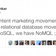 The radical NoMQL movement in content marketing - Chief Marketing Technologist
