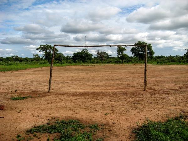 A soccer field in Kongolikoro, Mali.