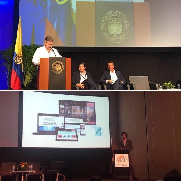 Tijdens het World Editors Forum