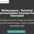 Cherryleaf launches WriteLessons | The Cherryleaf Blog