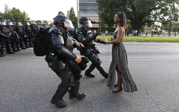 Iesha L. Evins, arrested in Baton Rouge. Photo by Jonathan Bachman, Reuters.