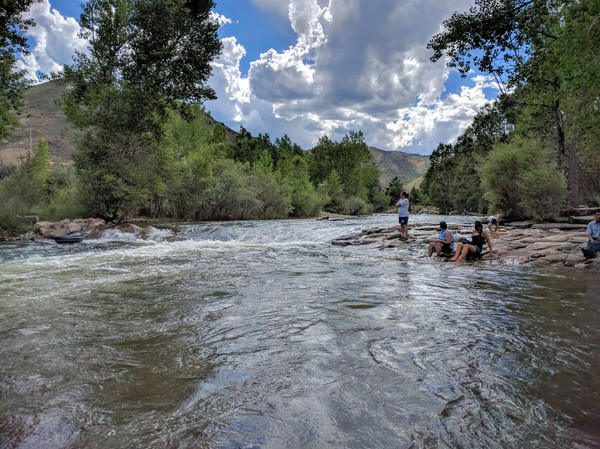 The cool waters of Clear Creek in Golden, Colorado. Thanks for the visit, Fifi!