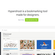 App: Hypershoot - Bookmarks for designers