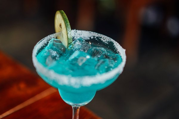 Blue summer cocktail