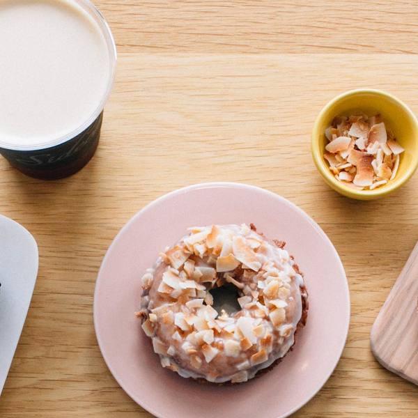 """""""Coconut Doughnut"""" by Sidecar (@sidecardoughnuts)"""