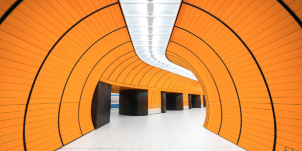 The curves of Marienplatz station in Munich, Germany