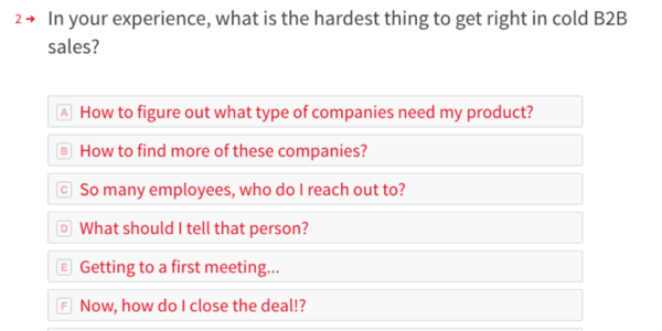 How do you feel about your current B2B sales results?