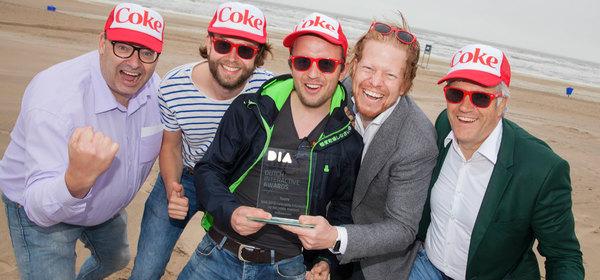 The inBeacon team after winning the Dutch Interaction Award 2016