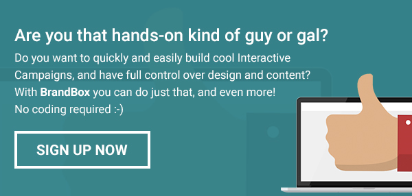 Create and optimize your Interactive Campaigns with BrandBox