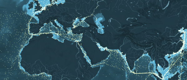 Click on the image for an interactive world shipping map. Very impressive.