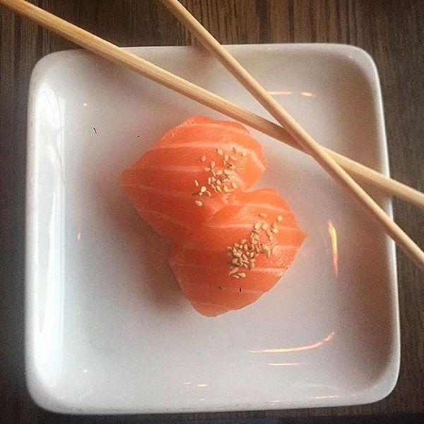 """Salmon Sushi"" by Sugarfish (@sugarfishbynozawa)"